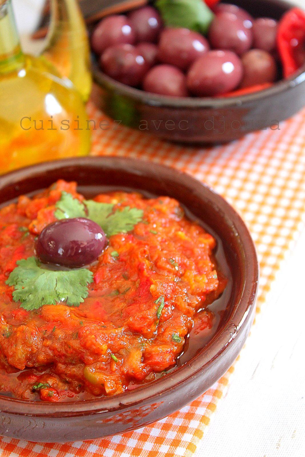 Zaalouk recette d'aubergines grillées à la marocaine
