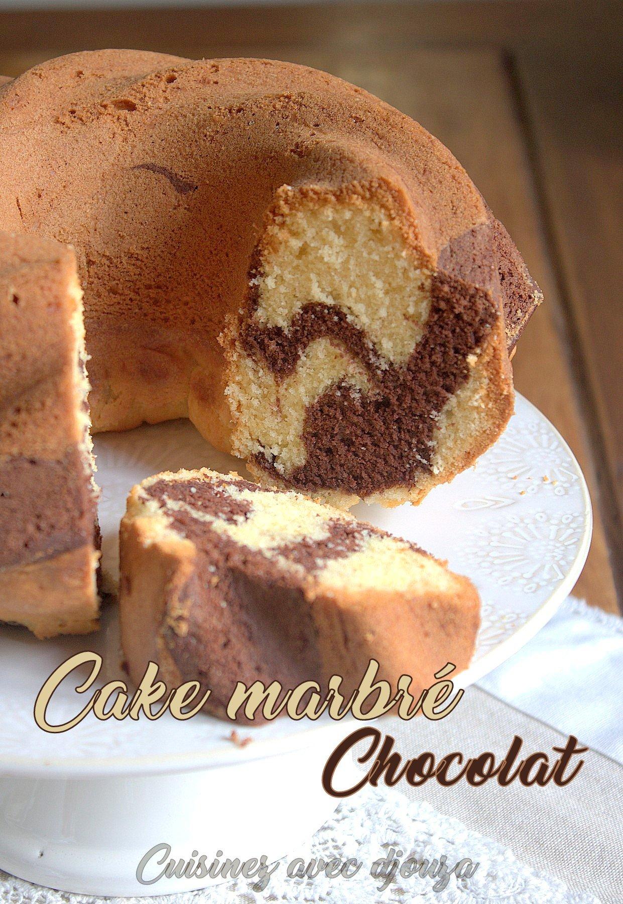 cake marbr vanille chocolat en poudre la cuisine de djouza. Black Bedroom Furniture Sets. Home Design Ideas
