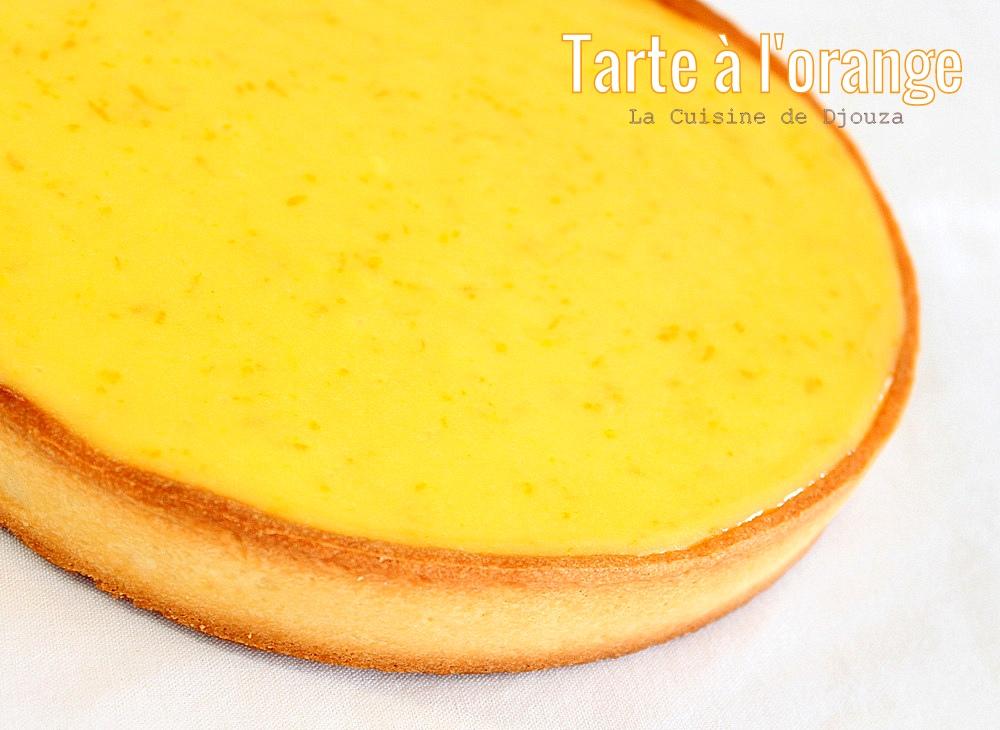 délicieuse tarte crémeuse à l'orange