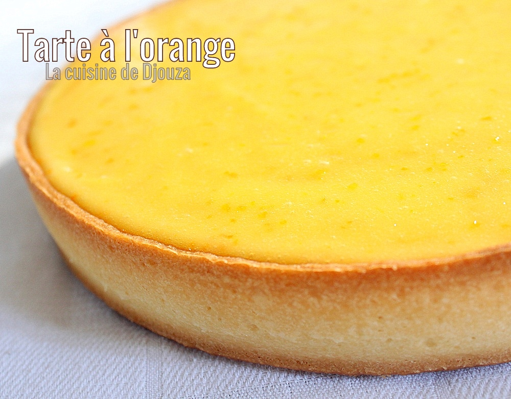 Tarte crémeuse à l'orange