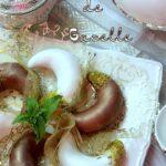 Cornes de gazelle tcharek au glaçage royal au chocolat