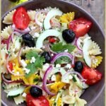 Salade de pâtes colorées à la grecque