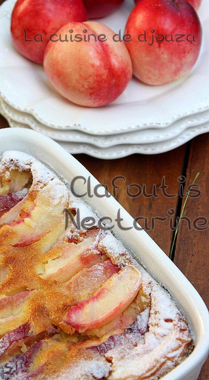 Clafoutis nectarine amandes facile