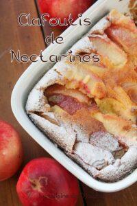 Recette clafoutis nectarines et amandes