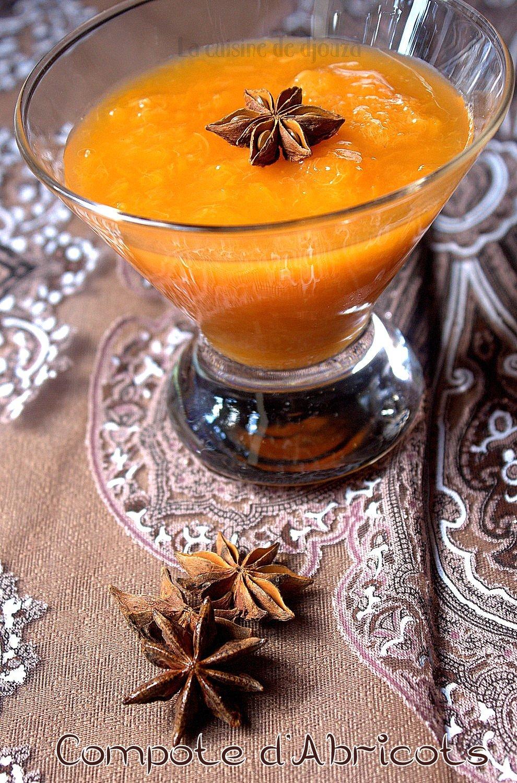 Compote d'abricot cuit à la badiane