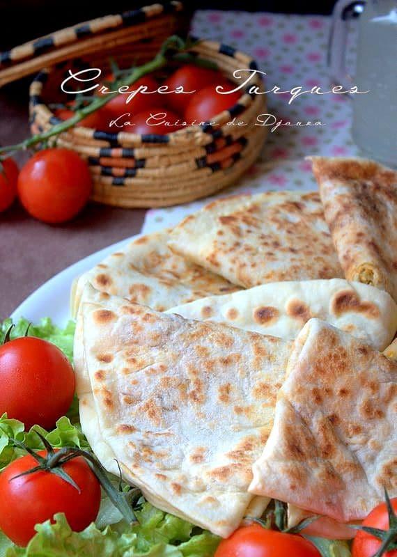 Crêpes turques ou galettes à la viande de poulet