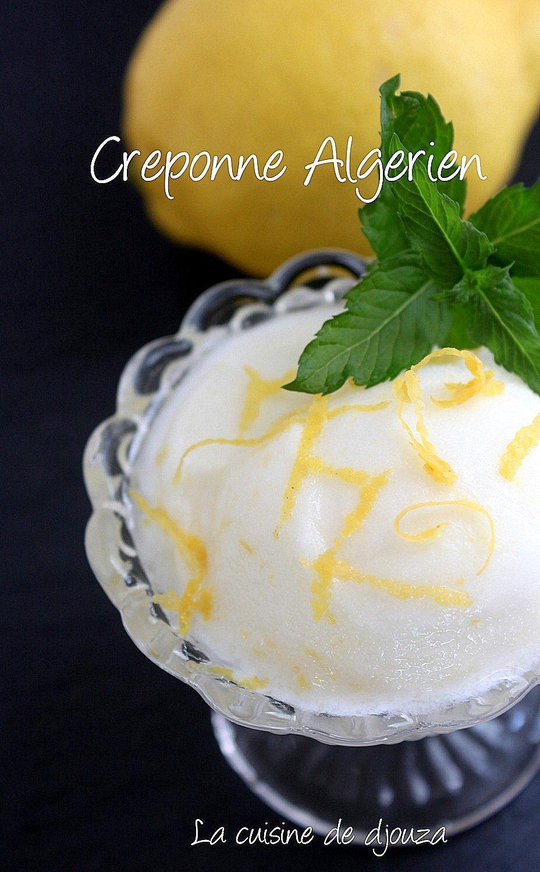 Creponné sorbet algérien au citron