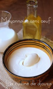 Recette mayonnaise sans oeuf