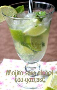 Cocktail mojito sans alcool menthe citron