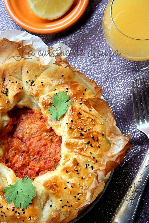 Tourte au thon et à la tomate (pâte feuilletée)