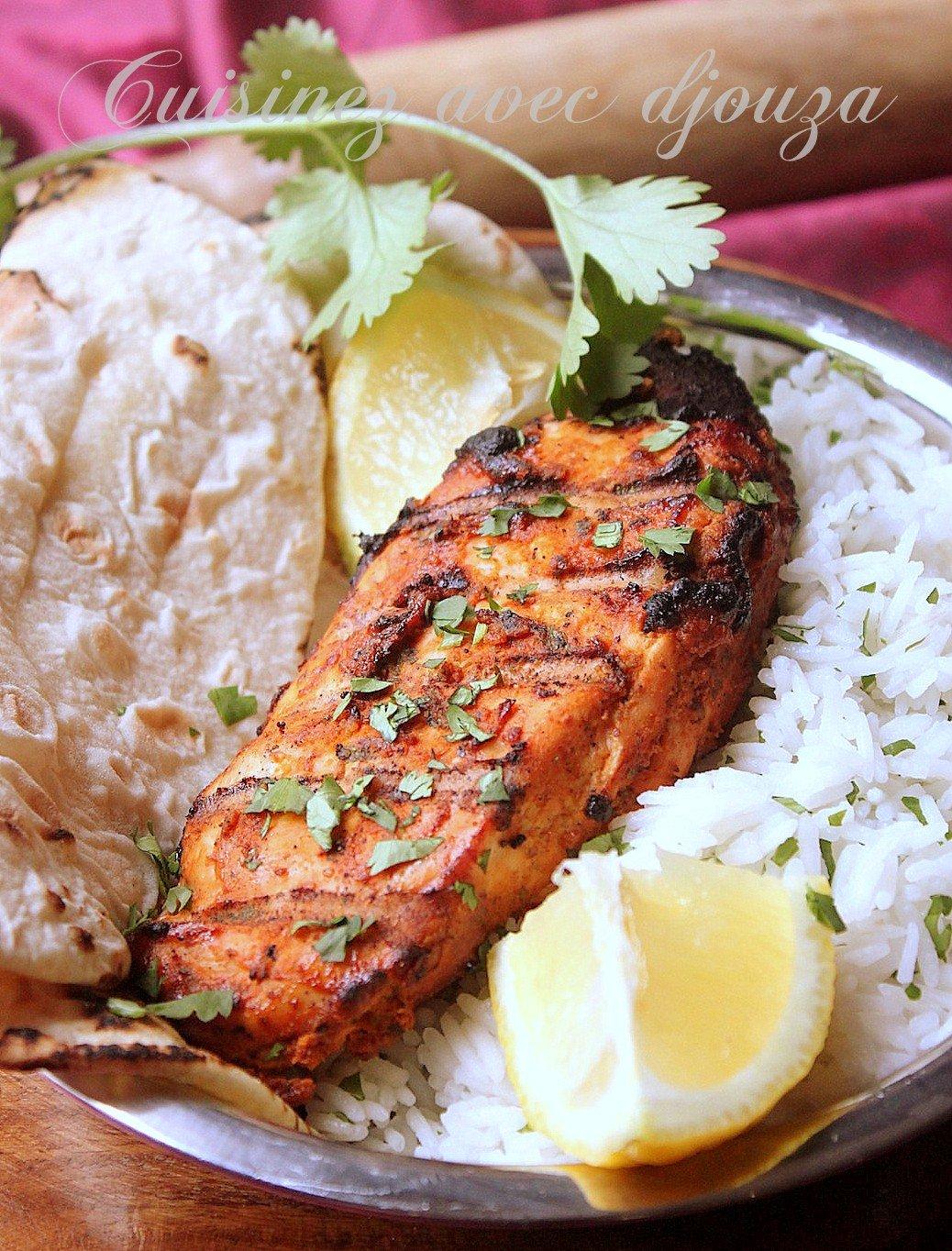 Escalope de poulet grillée au barbecue marinade à l'indienne