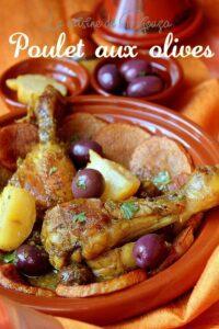 Tajine de poulet aux olives et citrons confits à la marocaine