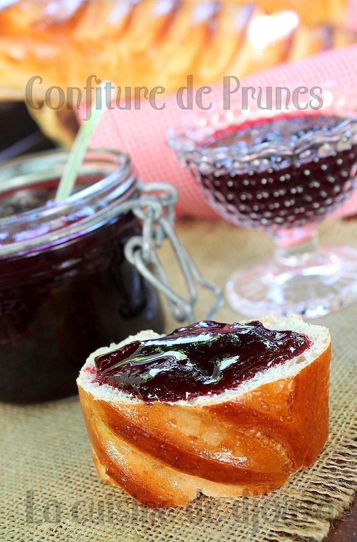 Confiture de prunes rouges à l'eau de fleur d'oranger