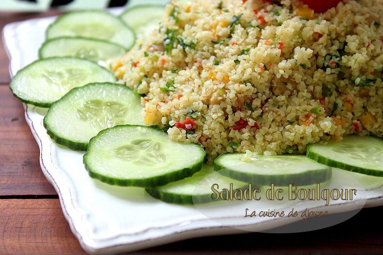 Salade froide de boulgour façon tabboulé