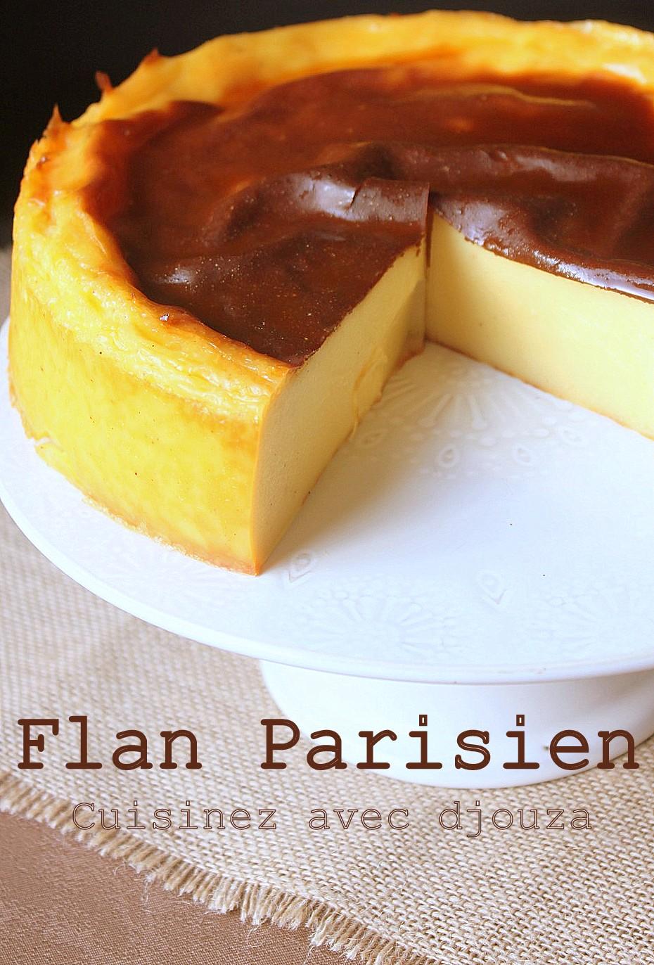 Recette du flan parisien sans pate