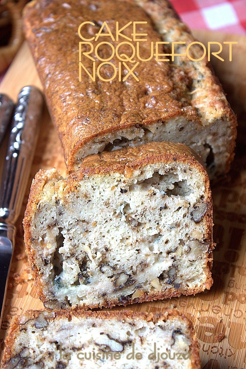 Cake salé roquefort noix
