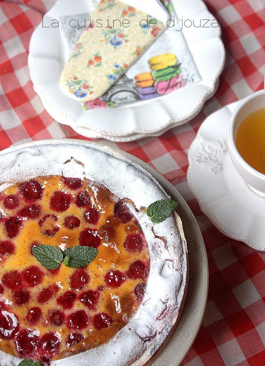 tarte aux griottes et framboises surgel es recettes faciles recettes rapides de djouza. Black Bedroom Furniture Sets. Home Design Ideas