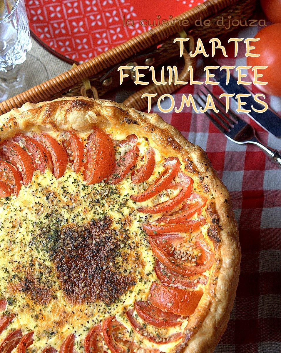 tarte feuillet e aux deux tomates recettes faciles recettes rapides de djouza. Black Bedroom Furniture Sets. Home Design Ideas