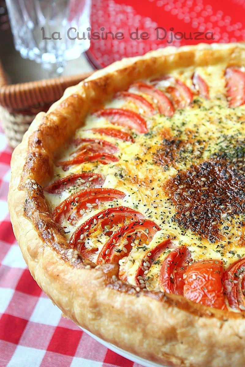 tarte tomates mozzarella pâte feuilletée
