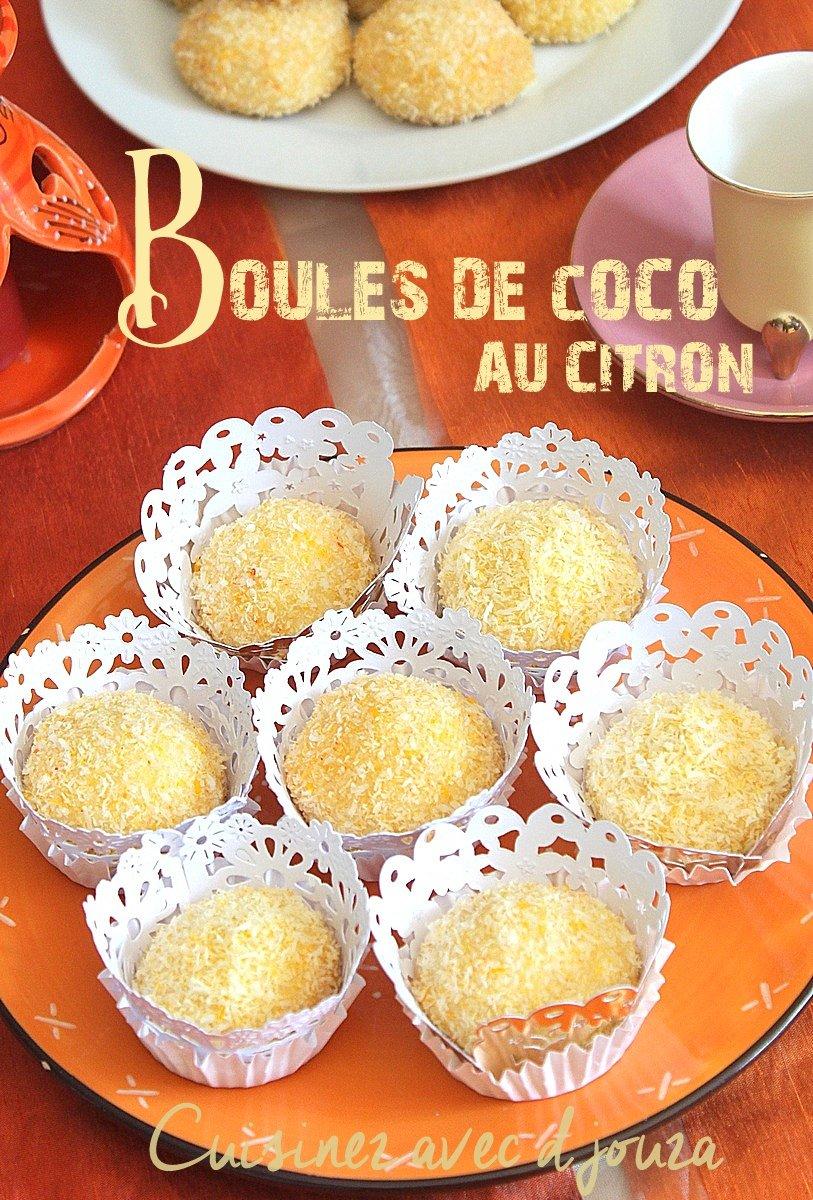 Boules de coco au citron et citron confit