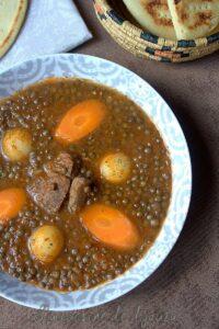 Soupe de lentilles recette algérienne