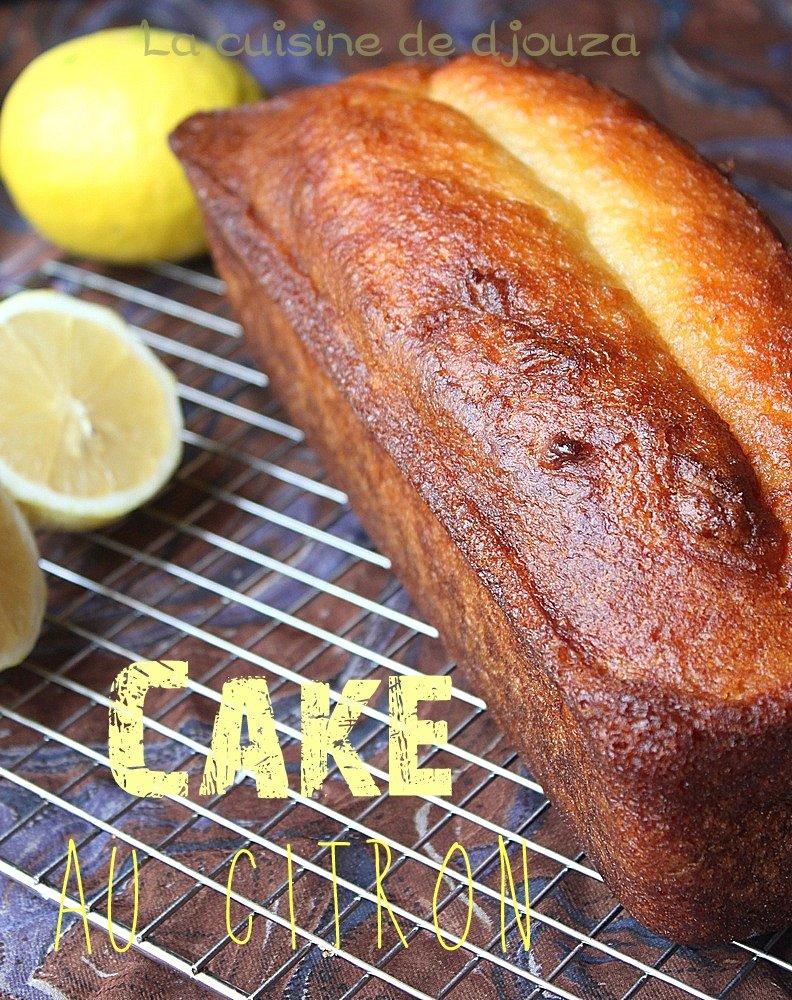 Cake au citron imbibé au sirop de citron
