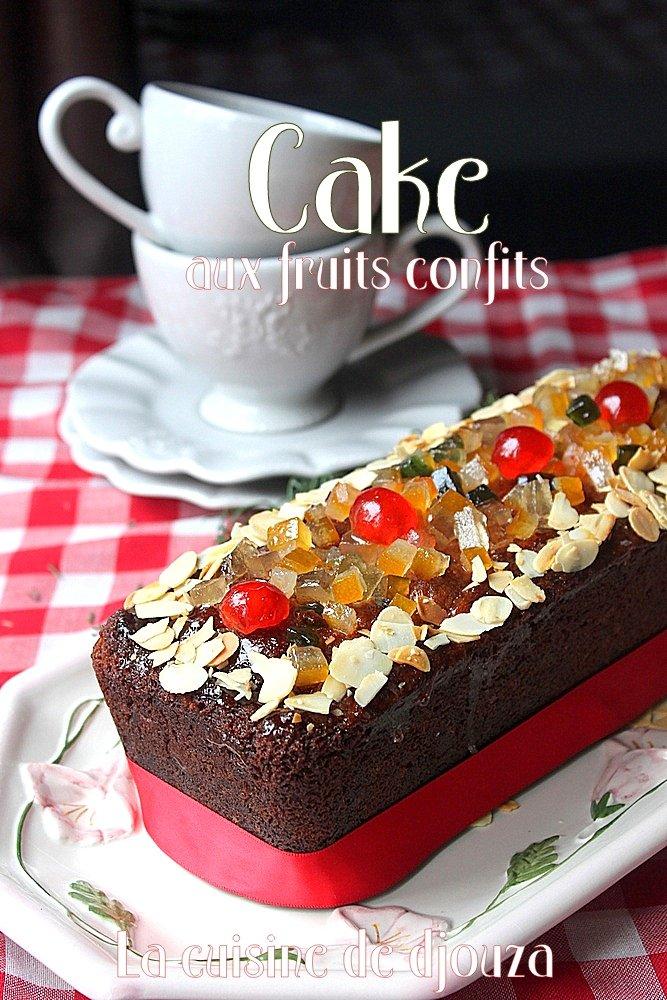 Cake moelleux aux fruits confits