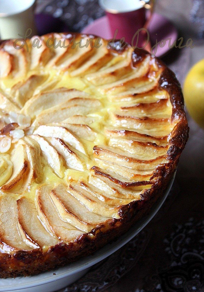 Gateau moelleux aux pommes et crème de flan