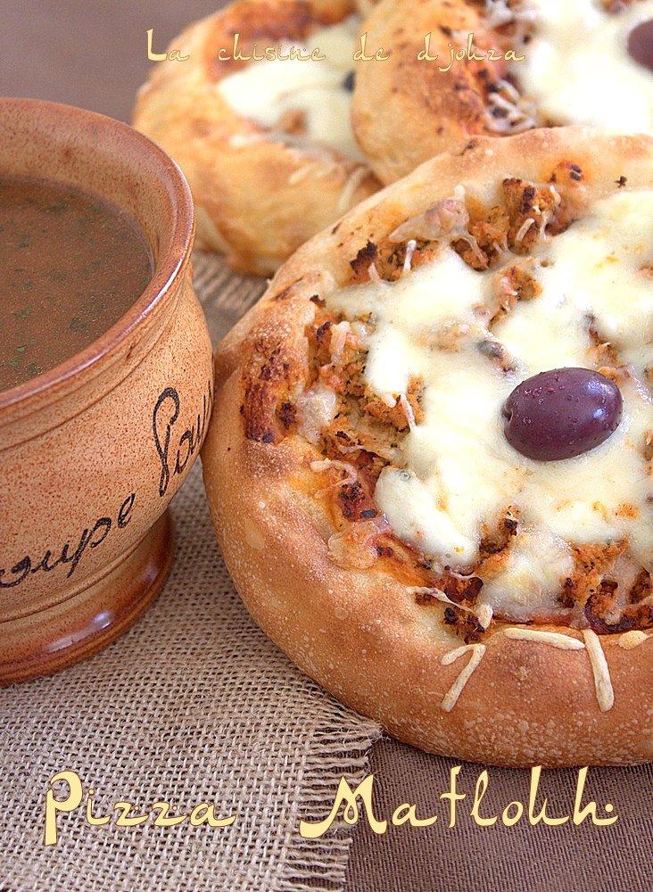 Mini Pan pizza avec une pate de pain Matlouh