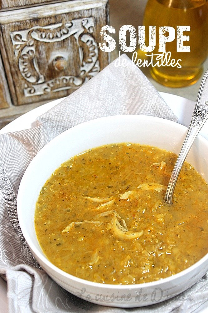 Soupe de lentilles rouges au curry et poulet recettes - Comment cuisiner des lentilles blondes ...