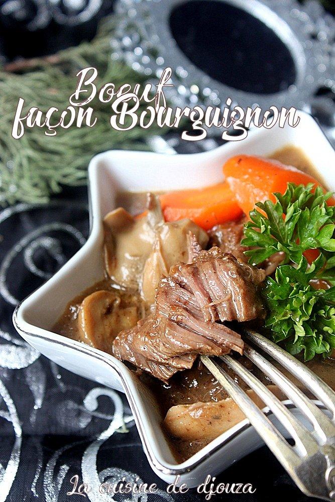 Recette de boeuf façon bœuf bourguignon