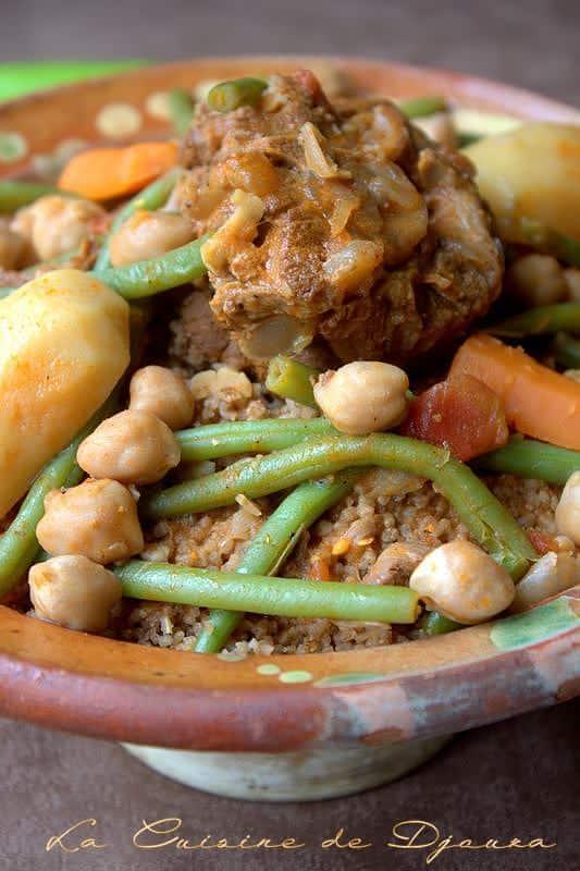 Couscous berbere à l'orge fait maison