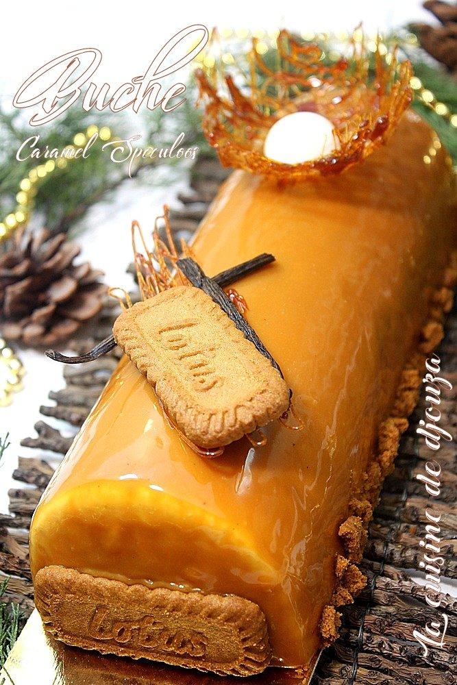 Buche speculoos insert caramel beurre salé