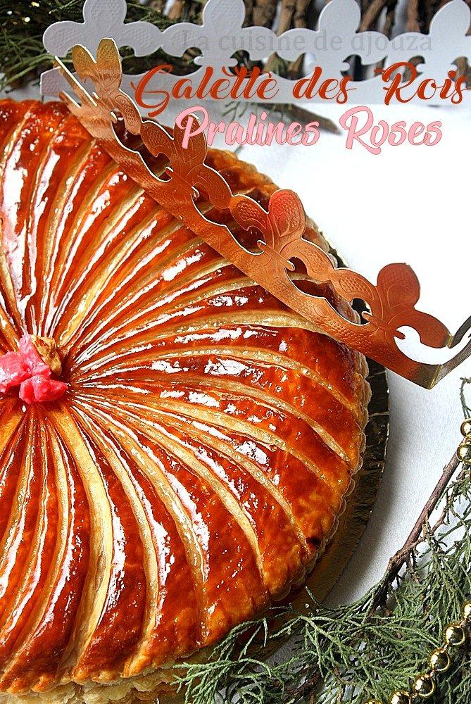 Galette aux amandes frangipane et pralines roses