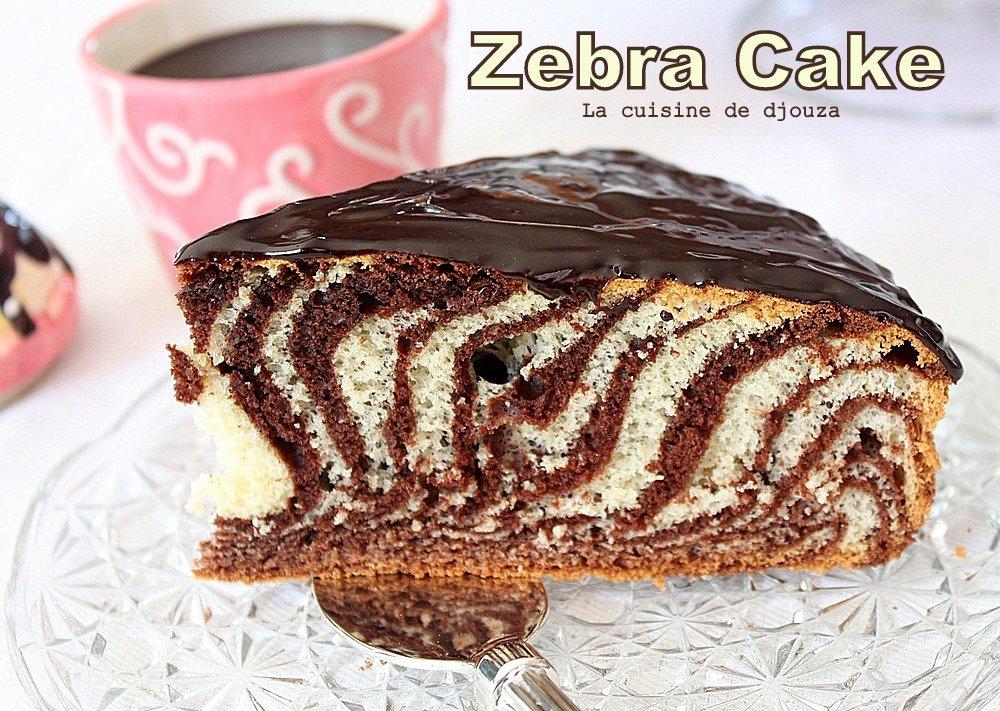 Gâteau marbré italien ou zebra cake