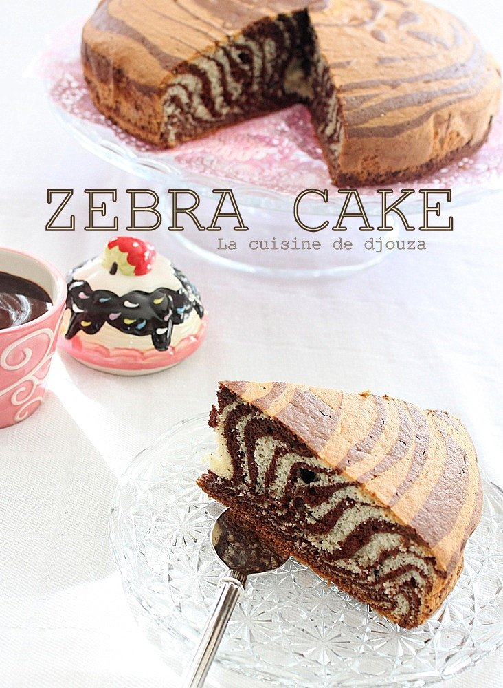 Gâteau zebré ou zebra cake