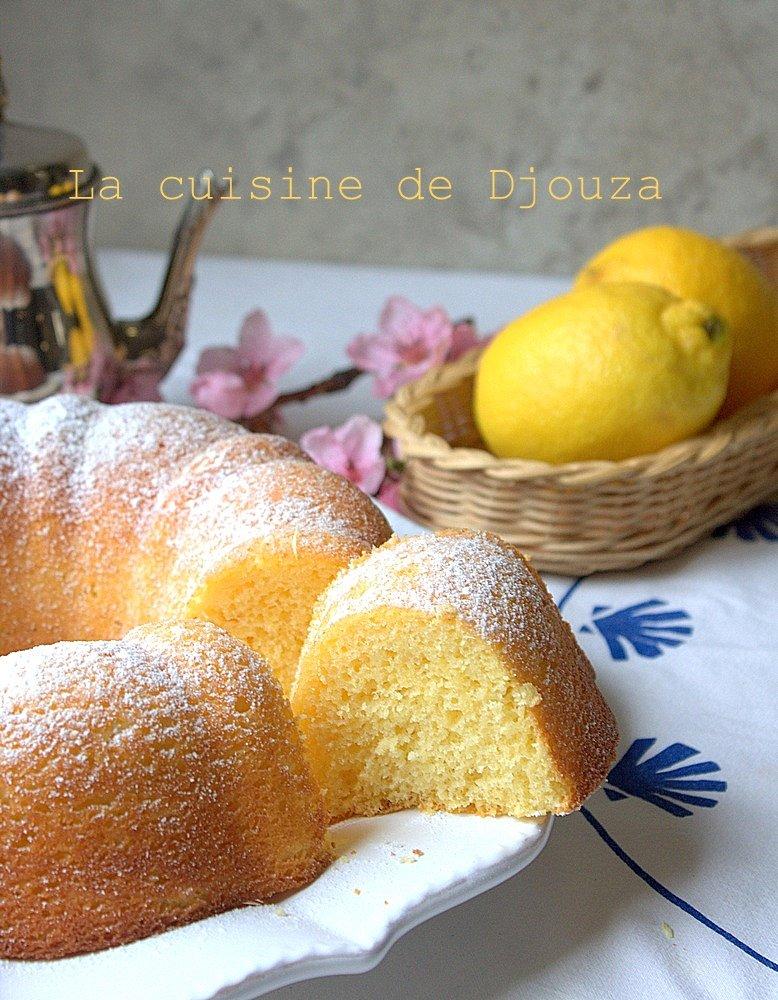 gateau mousseline léger au citron