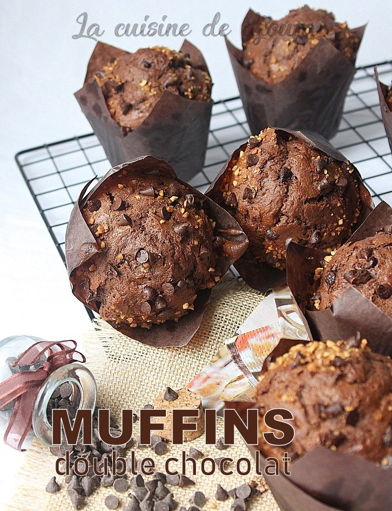 Muffins double chocolat moelleux