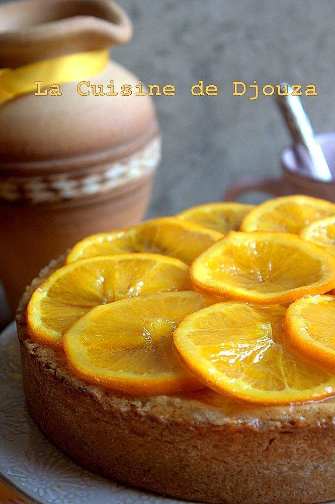 Gateau à l'orange et sa crème d'orange