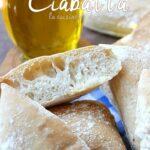 Pain ciabatta, pain italien sans levain