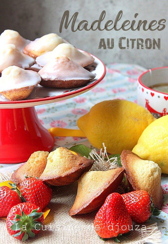 délicieuses madeleines au citron avec sa bosse