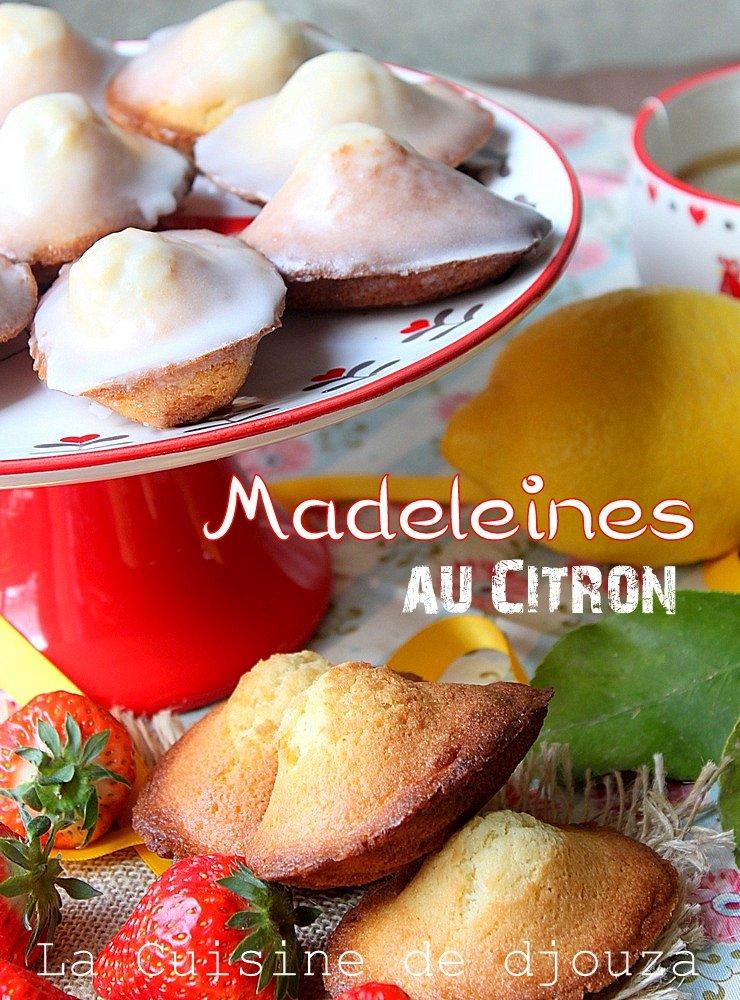 Madeleines dodues au citron