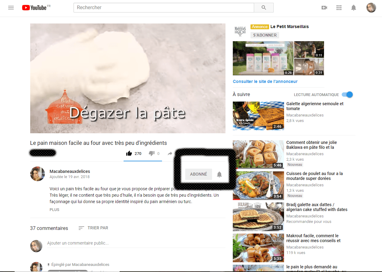 chaine youtube djouza s'abonner