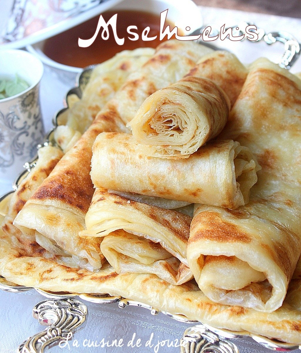 Msemen recette de crêpes carrés algériennes