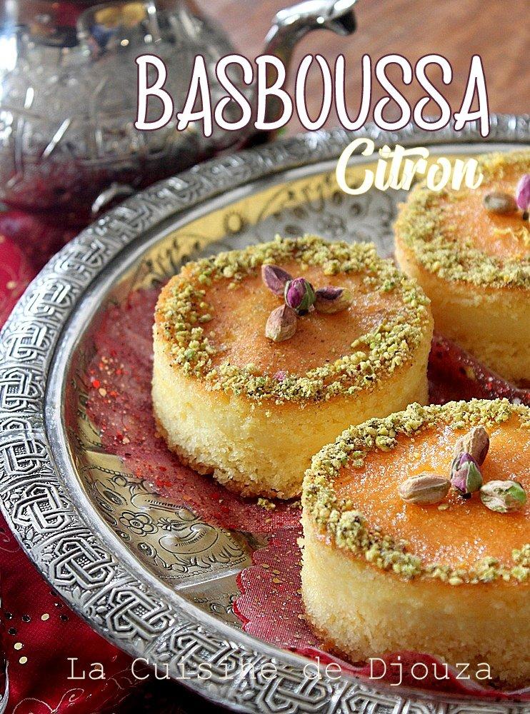 Basboussa algérienne au citron