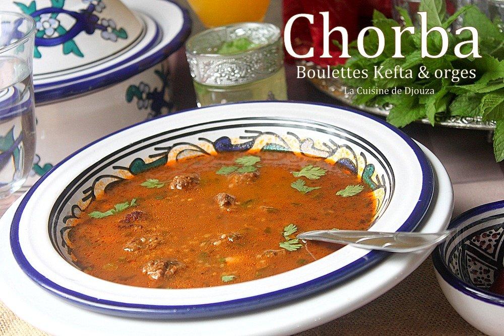 Soupe algérienne facile (kefta & orges)