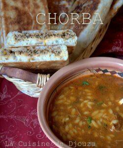 Chorba algérienne aux langues d'oiseaux