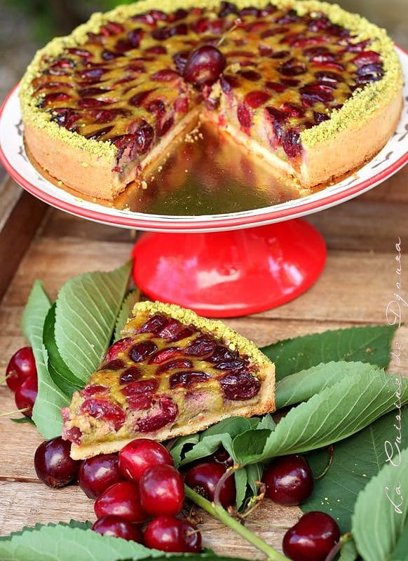 gâteau de cerise fraîche