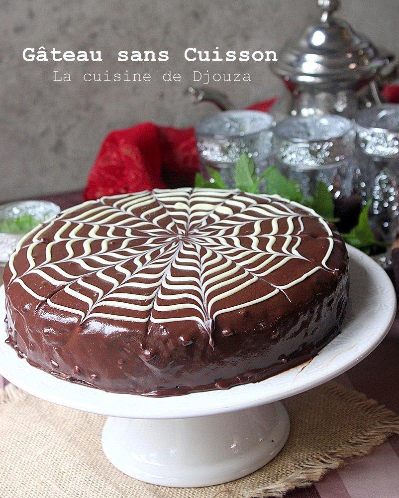 Gâteau au chocolat sans cuisson (petit beurre et ganache)