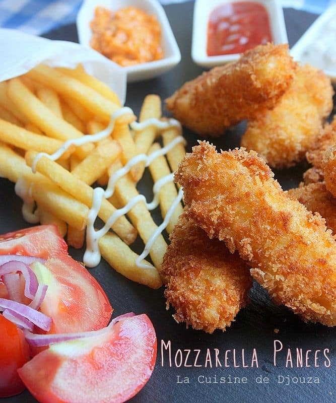 Mozza stick pané